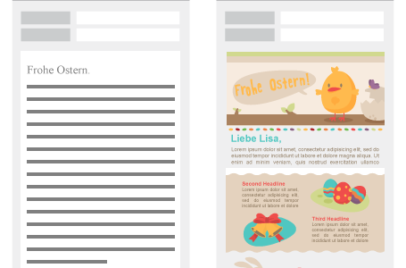 Text-Mail vs. Responsive Design Mail