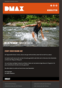 exemple newsletter Outdoors