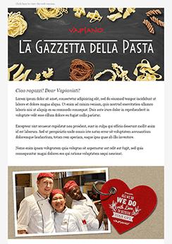 exemple newsletter Restaurant