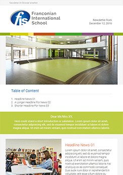 exemple newsletter Université