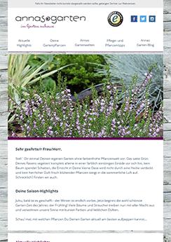 exemple newsletter Jardin