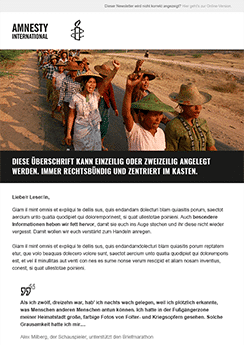 exemple newsletter ONG