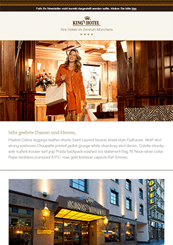 exemple newsletter Mode