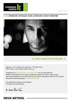 exemple newsletter Radio