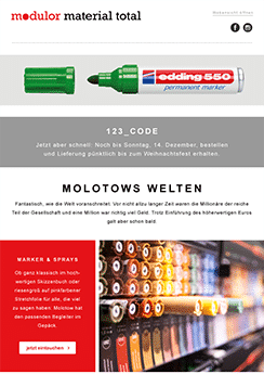 exemple newsletter Bar