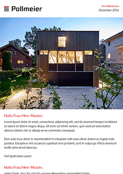 exemple newsletter Architecture